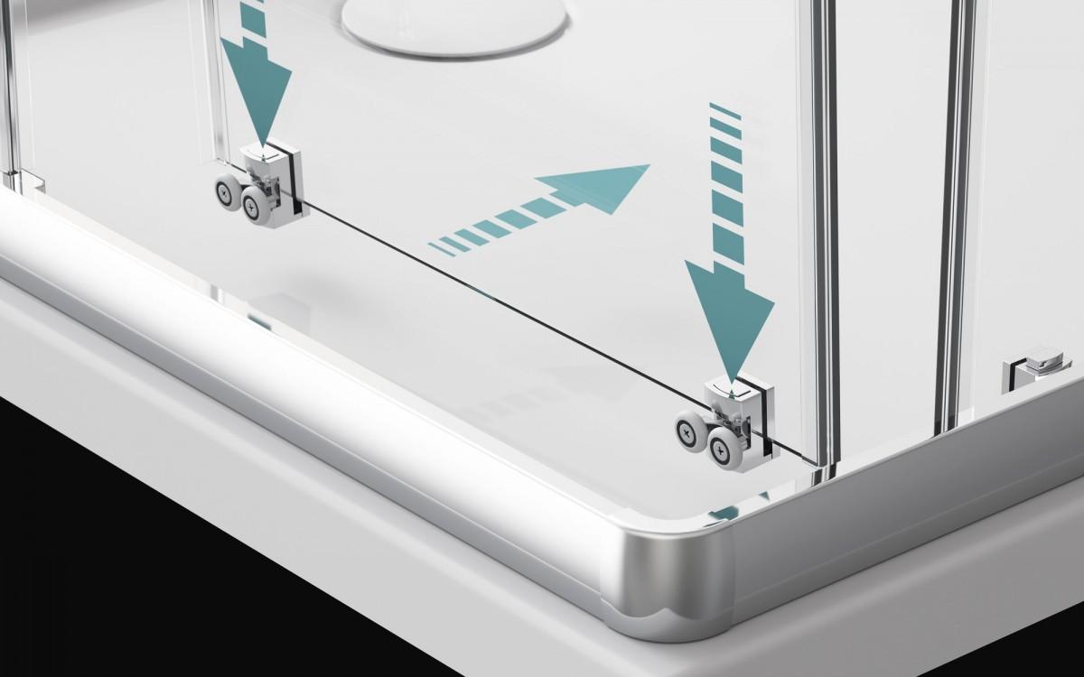 Душевой уголок Radaway Premium Plus E 1700 100x80x170 (матовое стекло)