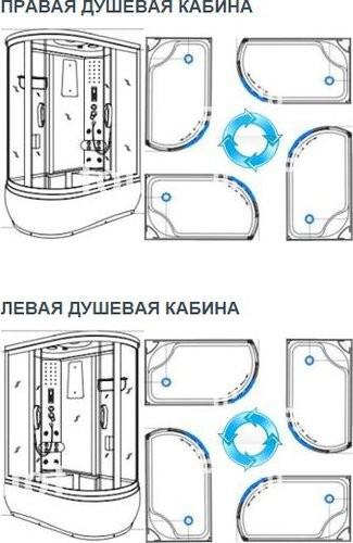 Душевая кабина Avanta 1722/7 L/R 120х80 тонированное(серое) стекло