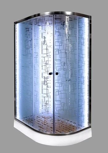 Душевая кабина Deto EM1512 N LED R/L 120x80 (без крыши)