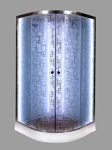 Душевая кабина Deto EM1590 N LED 90x90 (без крыши)