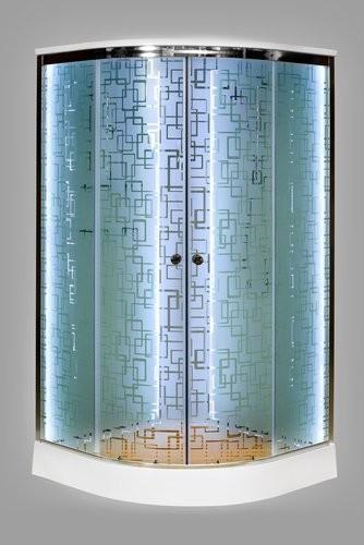 Душевая кабина Deto EM1510 LED 100x100