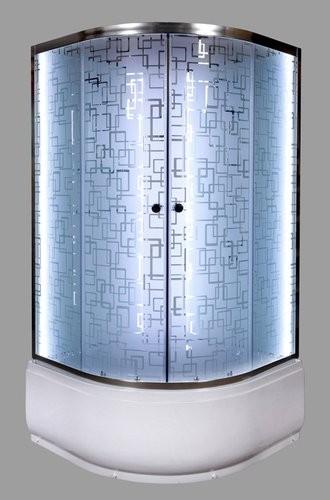 Душевая кабина Deto EM4590 N LED 90x90 (без крыши)