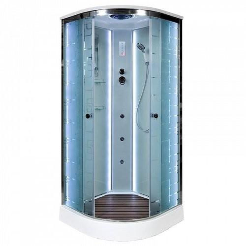 Душевая кабина Deto EM1510 100x100 LED (с гидромассажем)