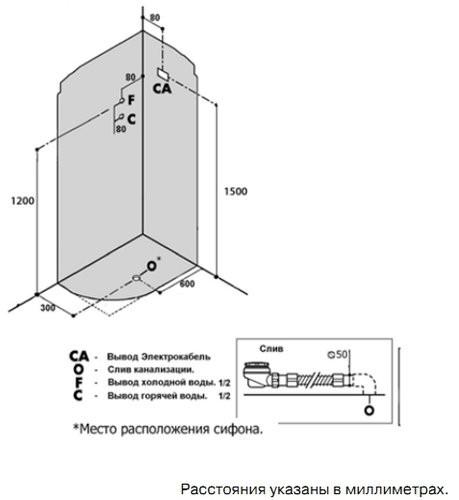 Душевая кабина Niagara NG-2510-14 R/L 120x80