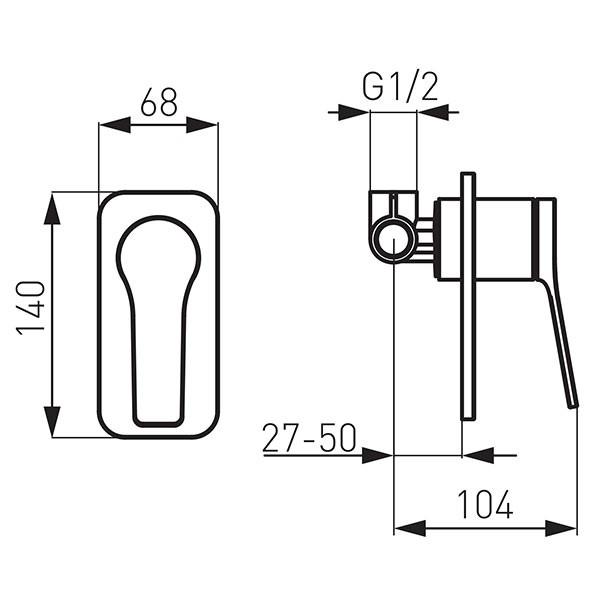 Смеситель для ванны Ferro Stratos BSC7PA