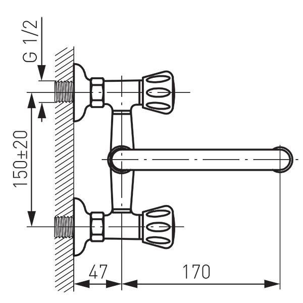 Смеситель для мойки Ferro Standard BST3