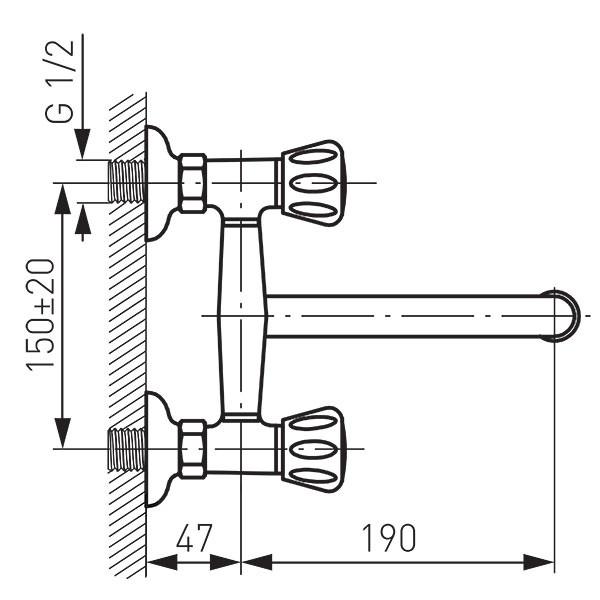 Смеситель для мойки Ferro Standard BST5