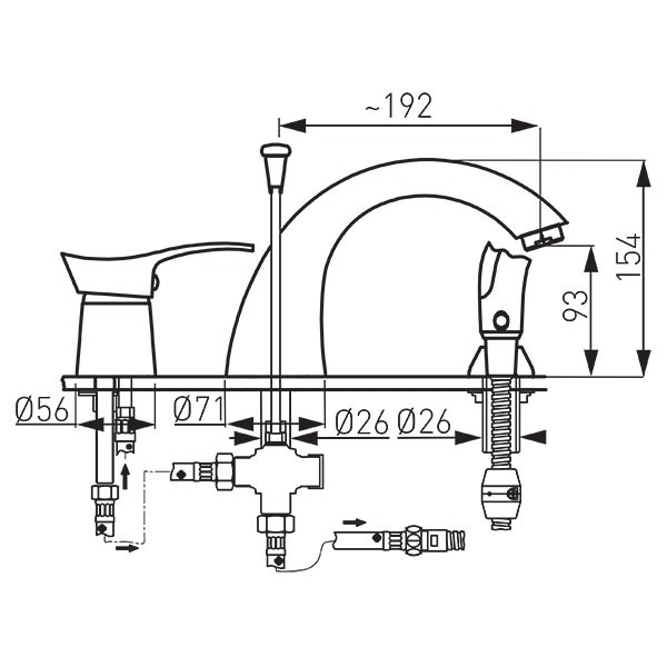 Смеситель для ванны Ferro BTP11A