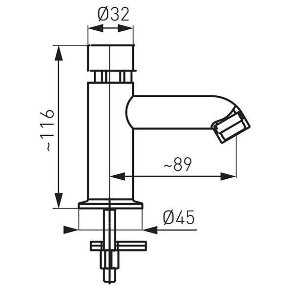 Смеситель для умывальника Ferro Presstige Z201R