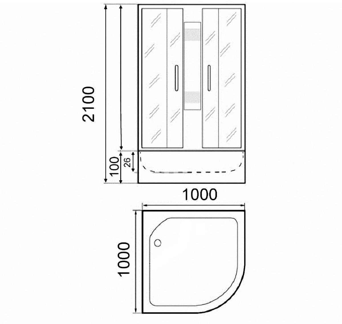 Душевая кабина Parly EC101 100x100