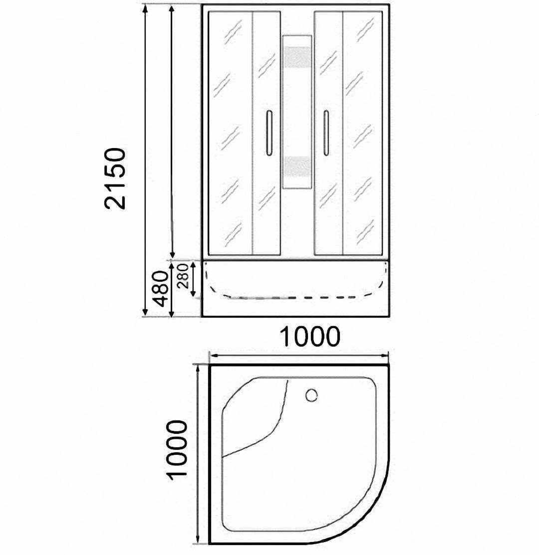 Душевая кабина Parly EB100 100x100