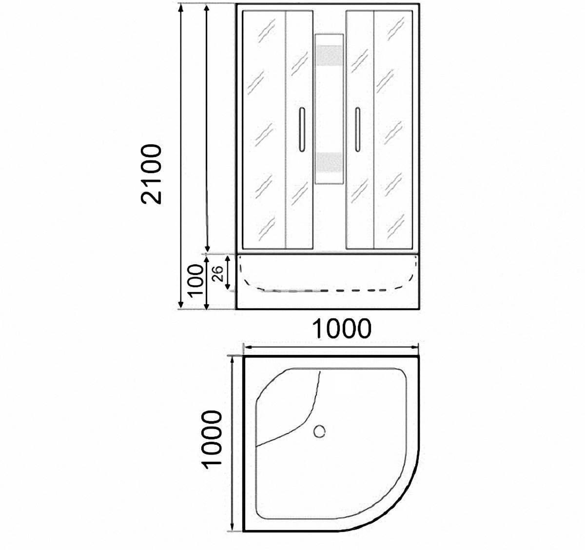 Душевая кабина Parly EB101 100x100