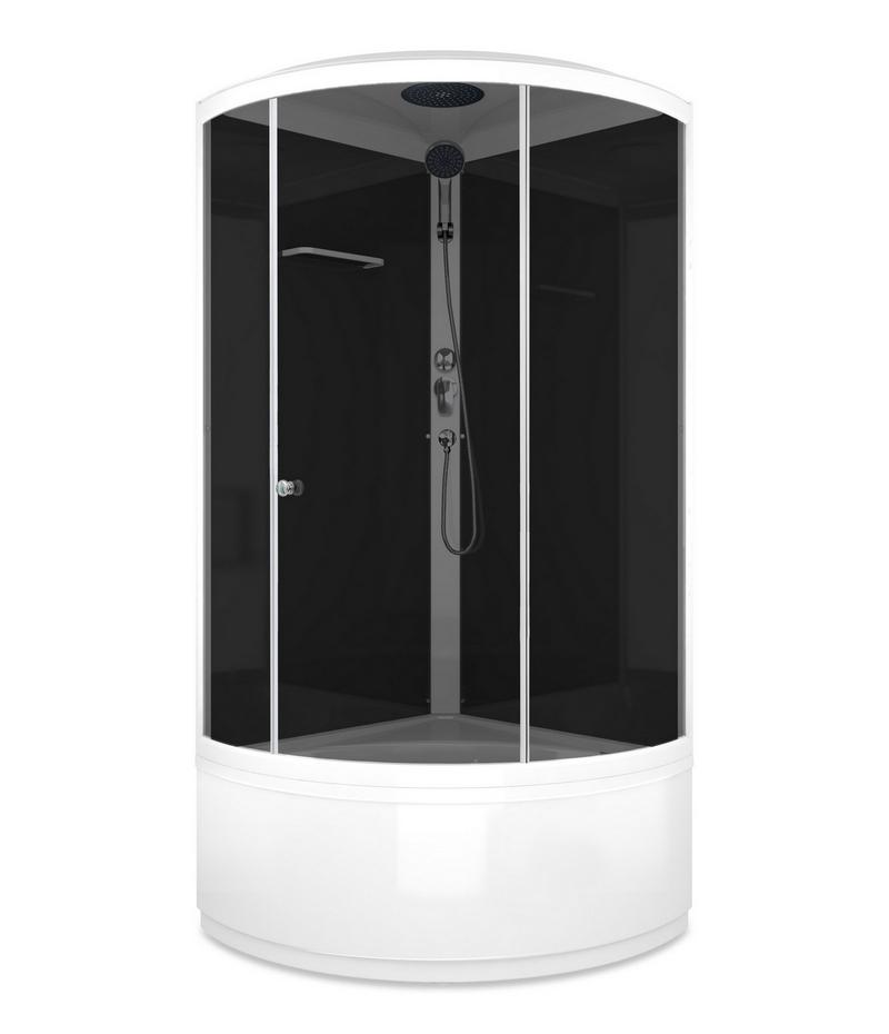 Душевая кабина Domani-Spa Simple high 90x90 стекло тонированное / черные стенки