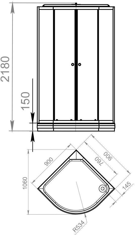 Душевая кабина Domani-Spa Delight 99 90x90 прозрачное стекло / розовые стенки