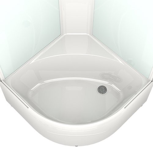 Душевая кабина Domani-Spa Delight 99 High 90x90 прозрачное стекло / голубой