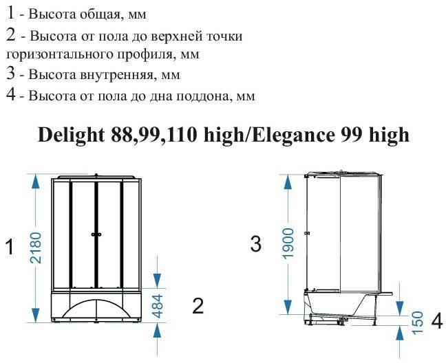 Душевая кабина Domani-Spa Delight 88 80x80 high