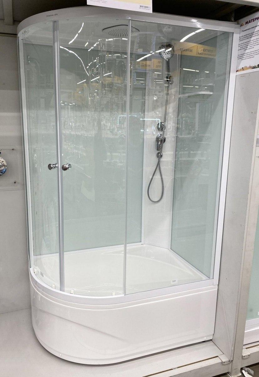 Душевая кабина Domani-Spa Delight 128 R 120x80 стекло прозрачное / белые стенки