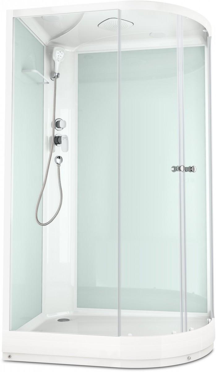 Душевая кабина Domani-Spa Delight 128 L 120x80 стекло прозрачное / белые стенки