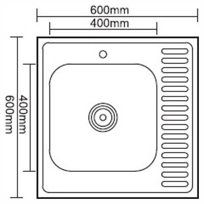 Стальная кухонная мойка Ledeme L66060-L