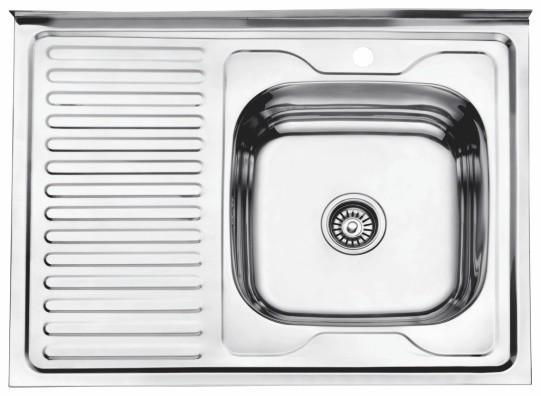 Стальная кухонная мойка Ledeme L98060-6R (глянец)