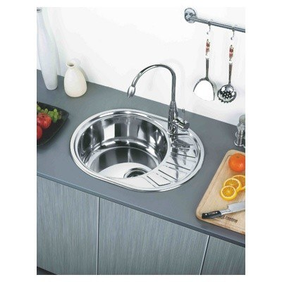 Стальная кухонная мойка Ledeme L87750-L (глянец)