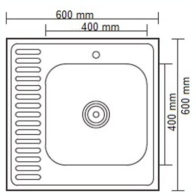 Стальная кухонная мойка Ledeme L96060-R (глянец)