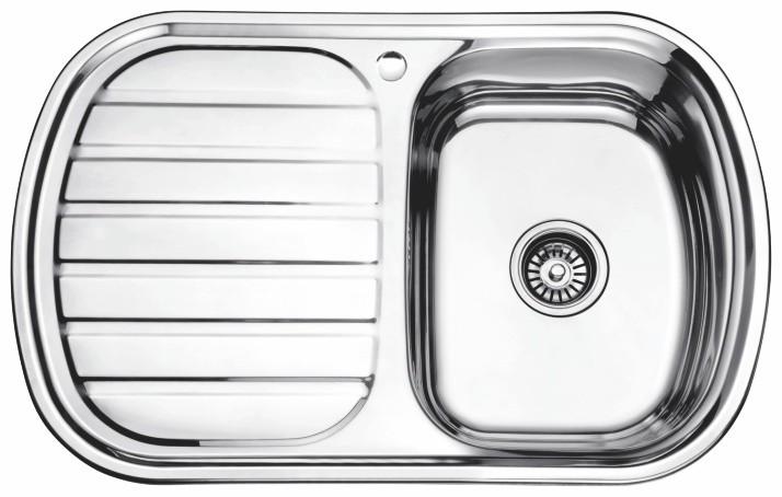 Стальная кухонная мойка Ledeme L97749-R (глянец)