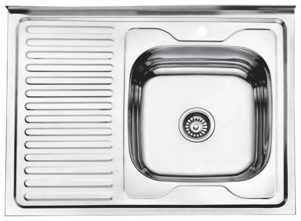 Стальная кухонная мойка Ledeme L98060-R (глянец)