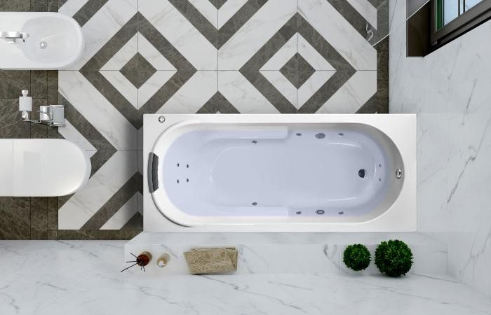 Гидромассажная акриловая ванна с хромотерапией Lavinia Boho Bristol 160x75 36035H0C