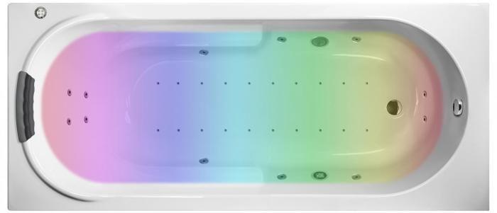 Гидро-аэромассажная акриловая ванна Lavinia Boho Bristol 170x75 36048HAC