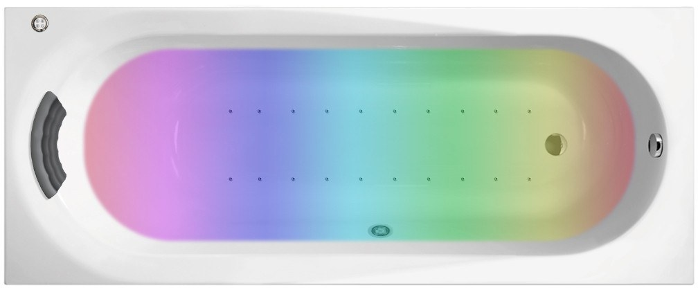 Аэромассажная акриловая ванна с хромотерапией Lavinia Boho Biore 150x70 360160AC