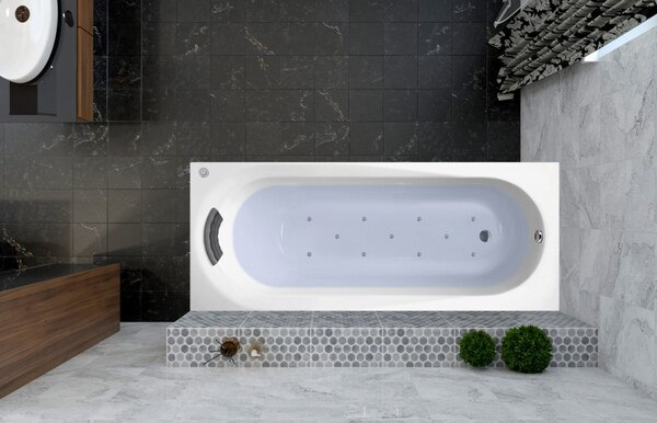 Аэромассажная акриловая ванна Lavinia Boho Biore 170x70 360030A0