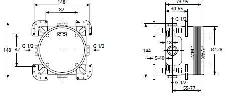 Скрытая часть Ideal Standard Active A1000NU