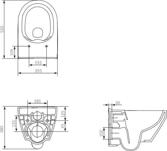 Унитаз подвесной Cersanit Crea New Clean ON овальный