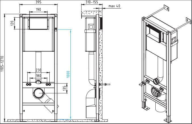 Комплект CERSANIT DELFI SET-DEL/Vec/TPL/En-Wh-w