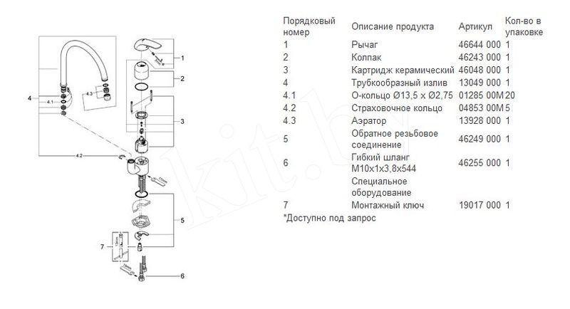 Смеситель для кухонной мойки Grohe Euroeco 32752000