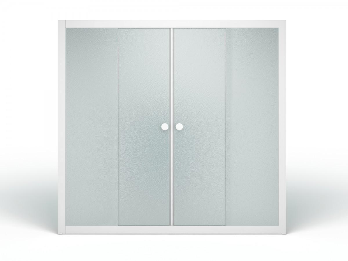 Стеклянная душевая шторка для ванны Метакам Купе 169x140 (матовое стекло)
