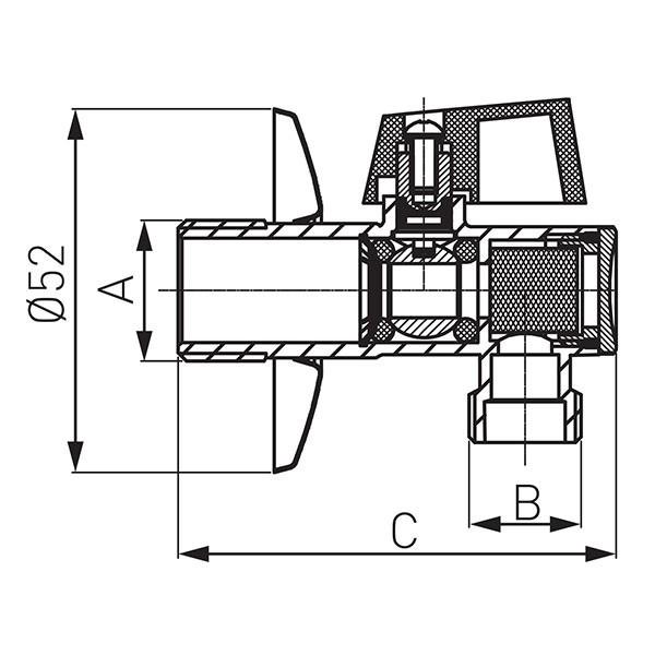 Кран угловой Ferro EZ1238KF