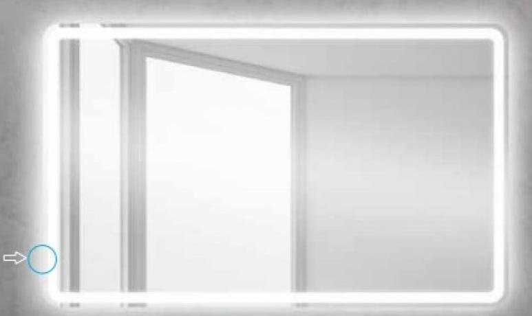 Зеркало Belbagno SPC-MAR-1200-800-LED-BTN