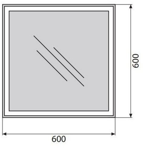 Зеркало Belbagno SPC-GRT-600-600-LED-TCH