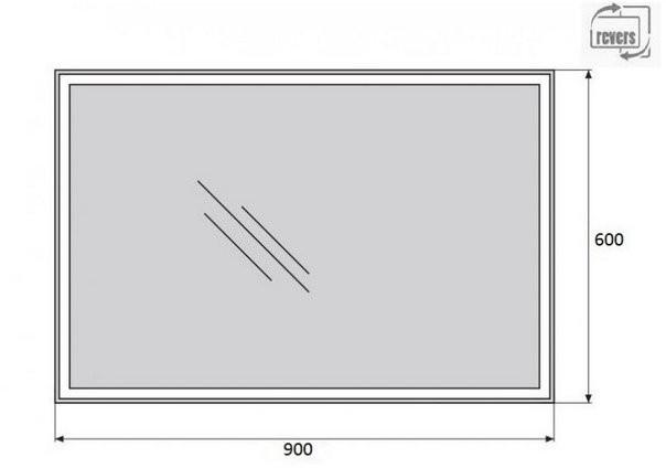 Зеркало Belbagno SPC-GRT-900-600-LED-BTN