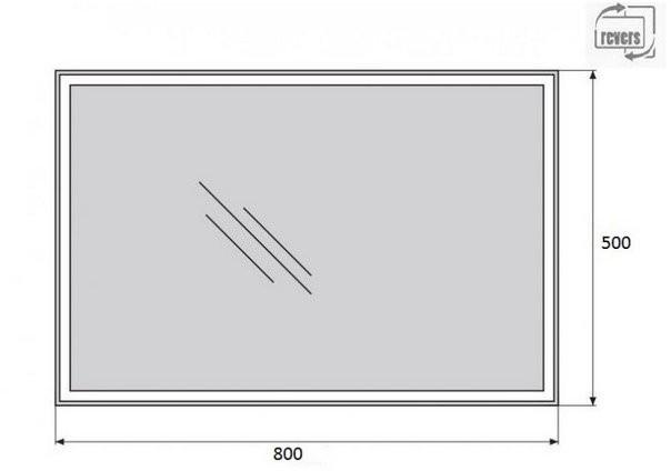 Зеркало Belbagno SPC-GRT-500-800-LED-TCH