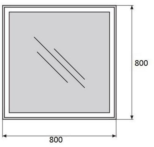 Зеркало Belbagno SPC-GRT-800-800-LED-TCH