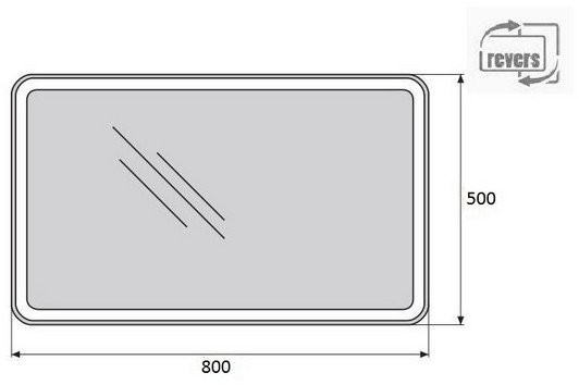 Зеркало Belbagno SPC-MAR-500-800-LED-BTN