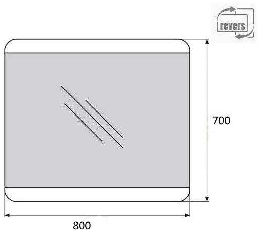 Зеркало Belbagno SPC-CEZ-800-700-LED-BTN