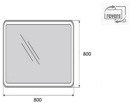 Зеркало Belbagno SPC-MAR-800-800-LED-BTN