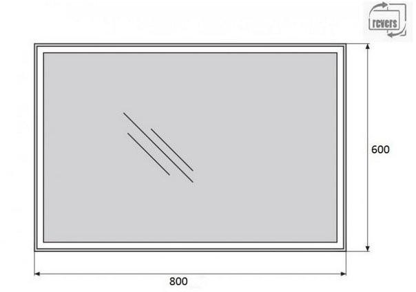 Зеркало Belbagno SPC-GRT-600-800-LED-TCH