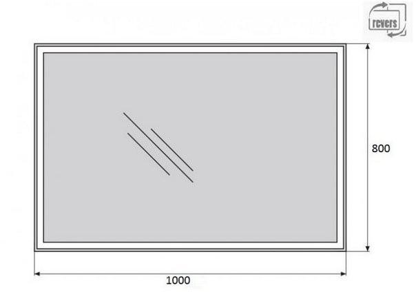 Зеркало Belbagno SPC-GRT-1000-800-LED-TCH