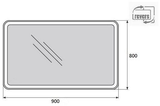 Зеркало Belbagno SPC-MAR-900-800-LED-BTN