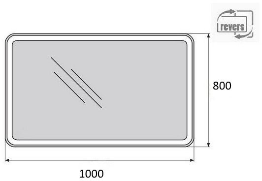 Зеркало Belbagno SPC-MAR-1000-800-LED-TCH